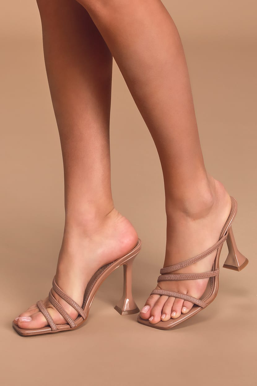 Flared Strappy Heels