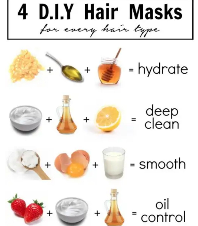 DIY Hair Masks for different hair issues and results