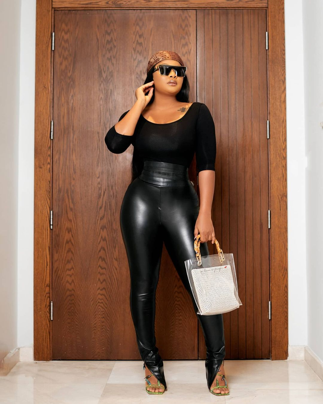 Bimbo Ademoye Keeps It Less Dramatic In Black