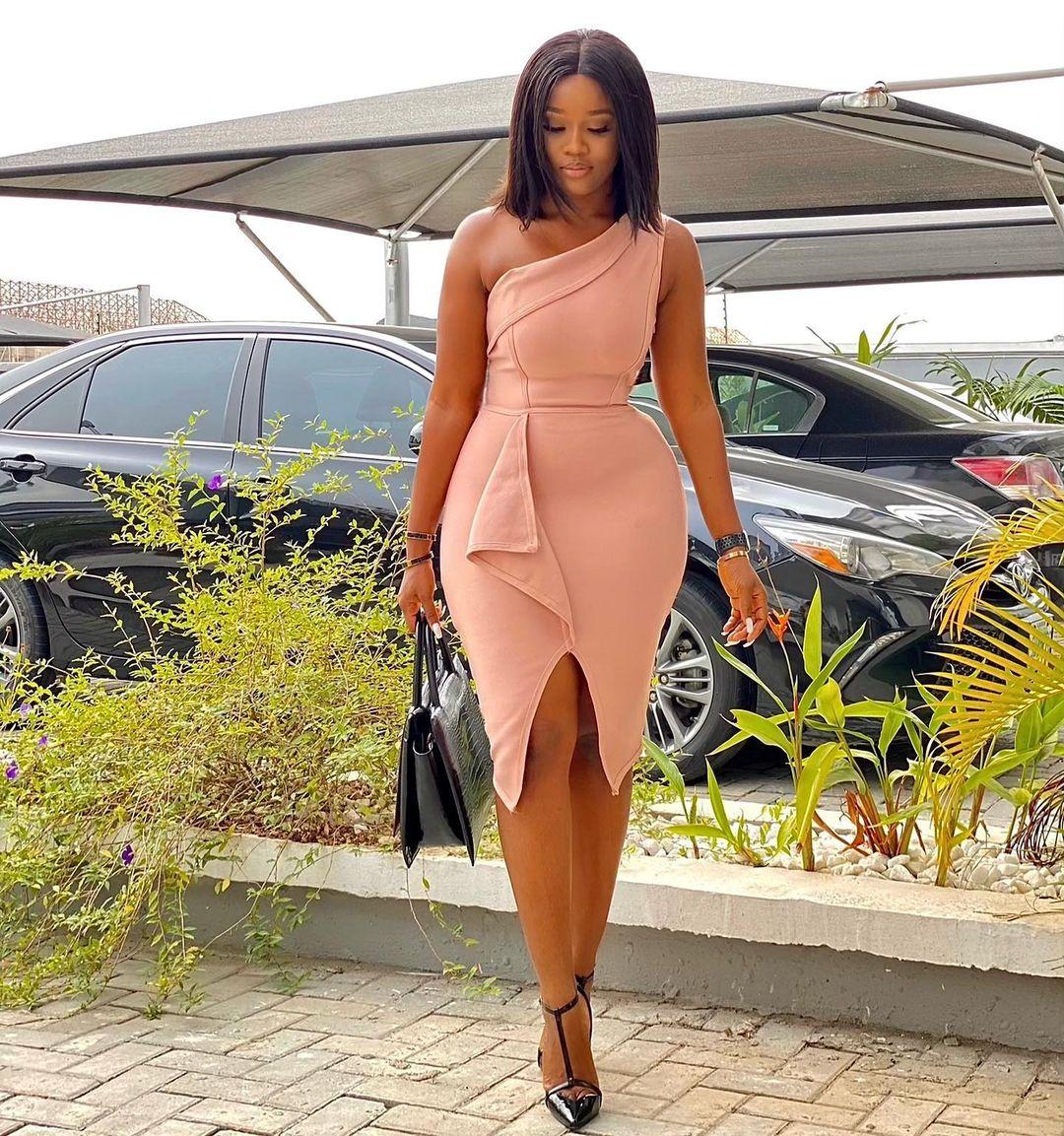 Cynthia Nwadiora Look Dashing In Sleek Party Dress
