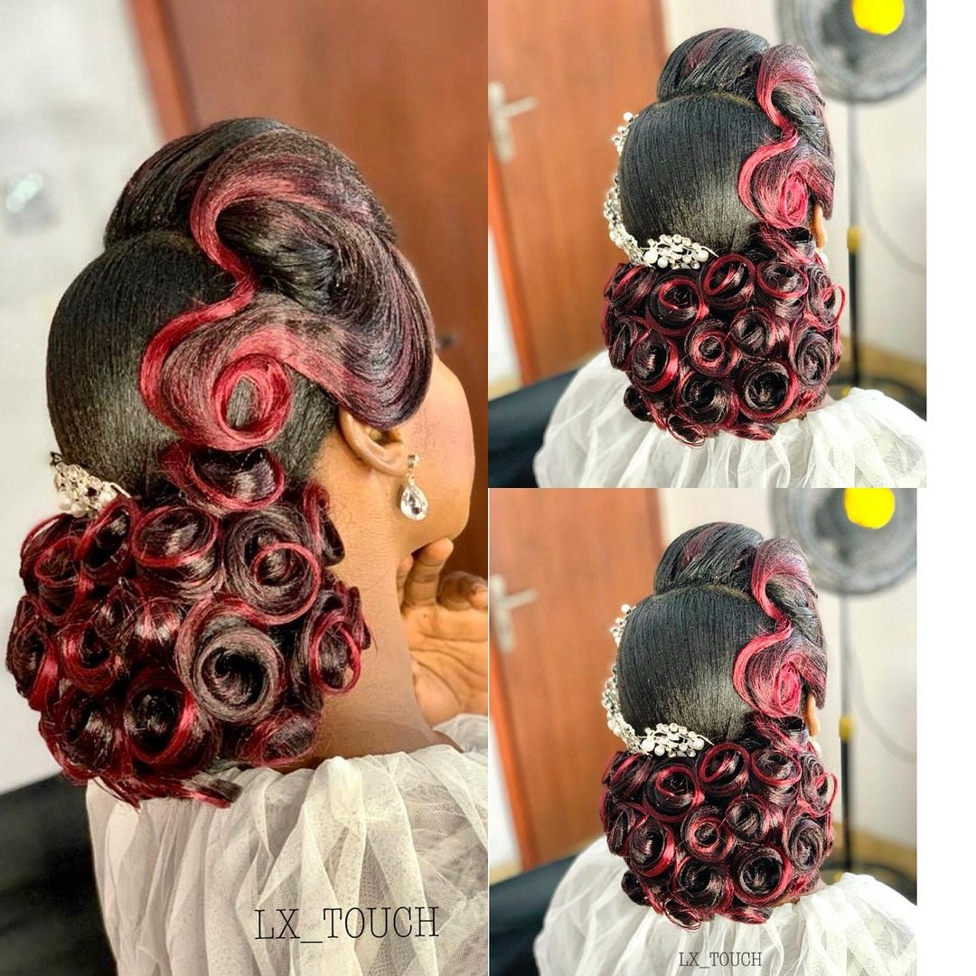 Well Detailed Colored Curls