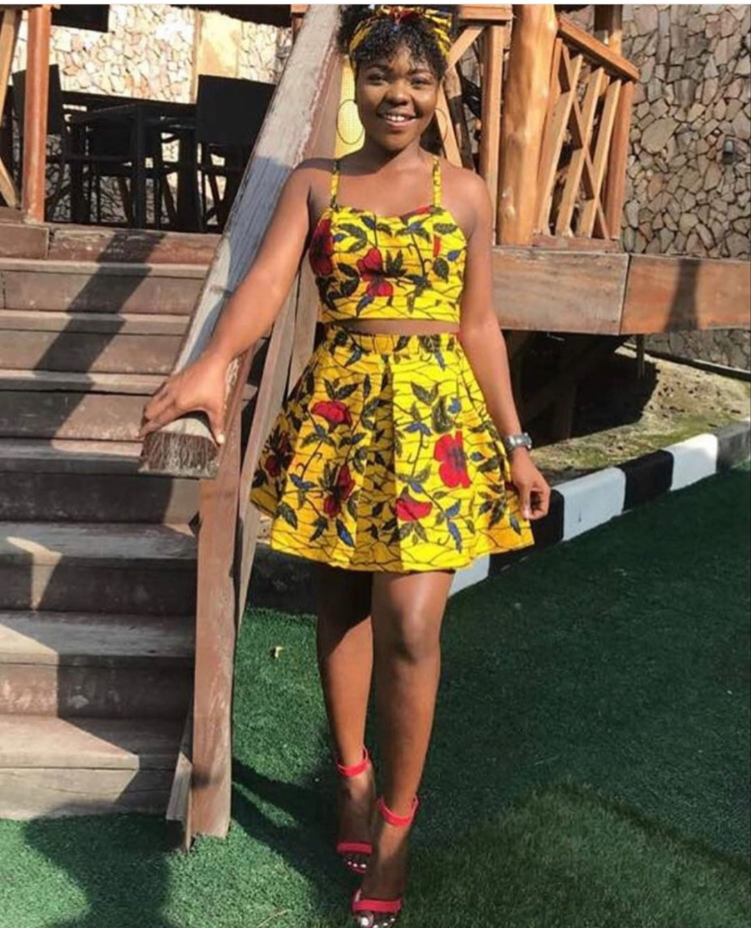 Ankara Crop Top And Skirt For Teenagers