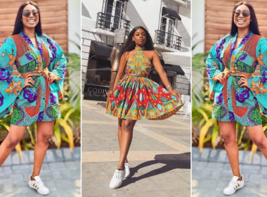 ankara short gown styles with sneakers