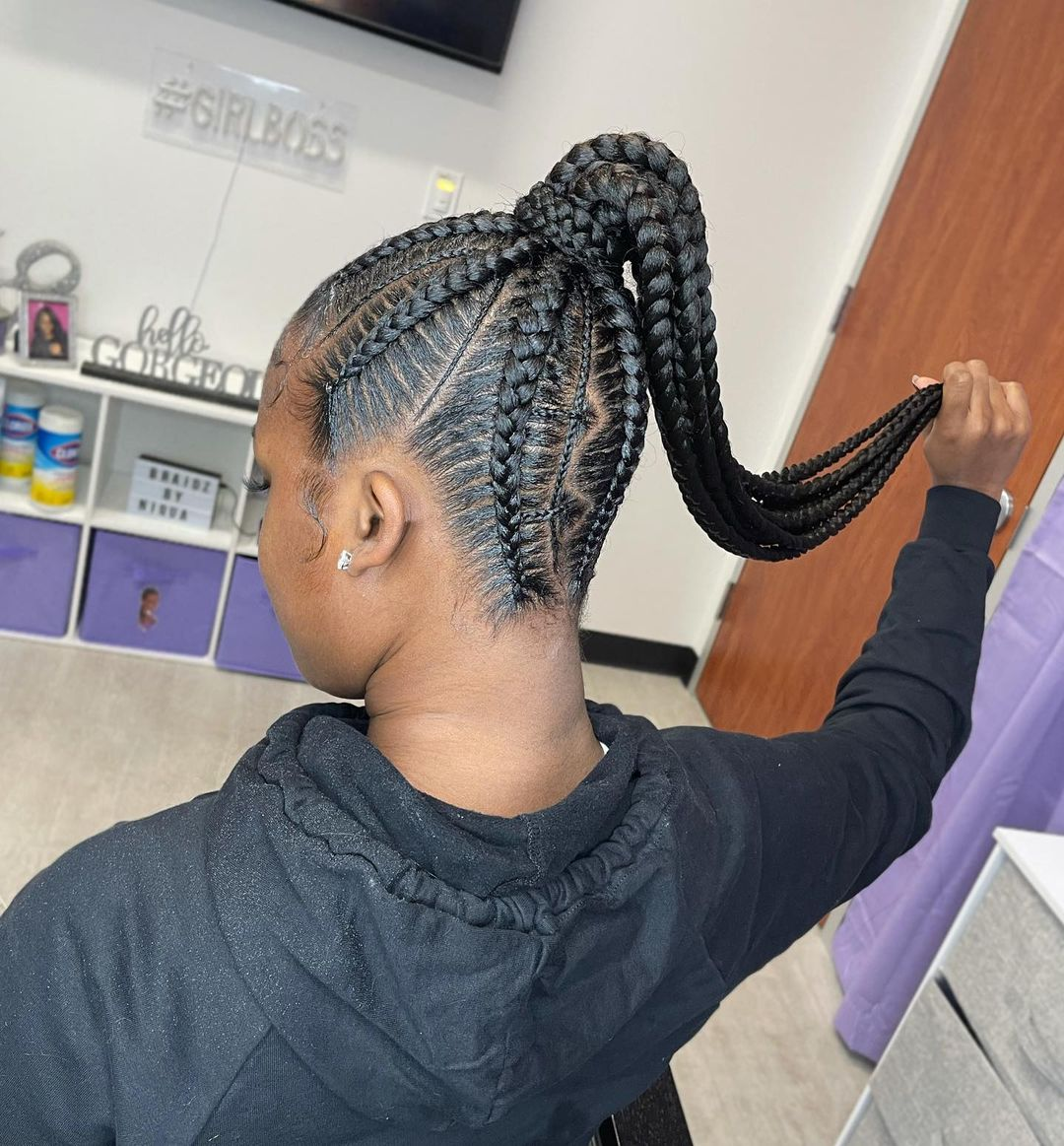 Stunning Ponytail Feed In
