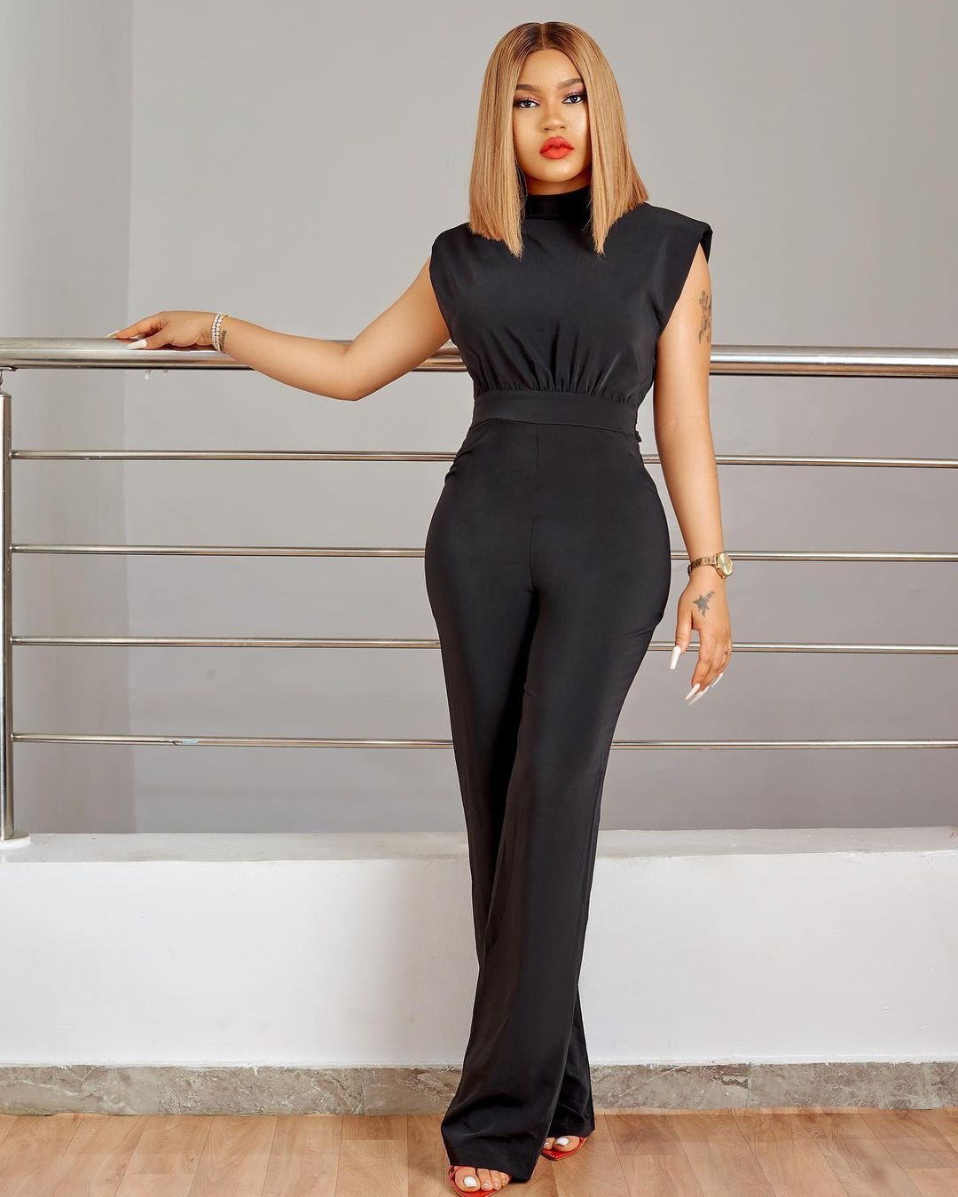 Adeola Adeyemi Is All About Keeping It Together In A One-Piece Outfit