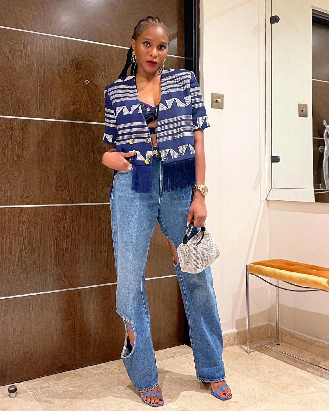 Lisa Folawiyo Opted For An Edgy Street Style