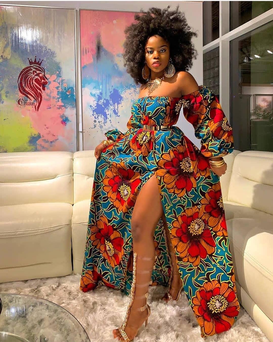 Midi Ankara Gown Style