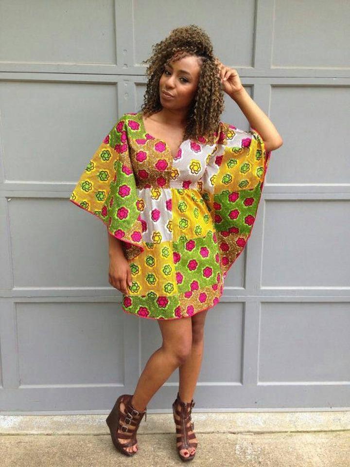 Ankara Butterfly Dress