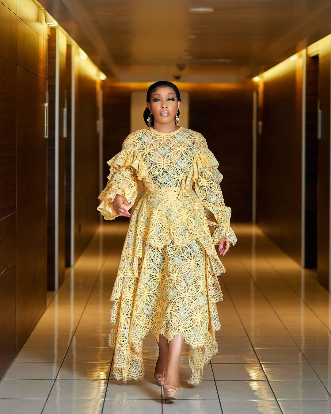 Rita Dominic: Eviable Laced Dress