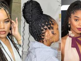 simple box braid hairstyle ideas