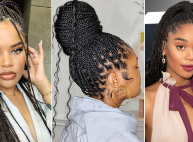 simple box braid hairstyle ideas