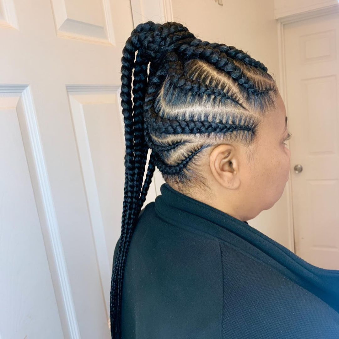 One Sided Ponytail Feed In