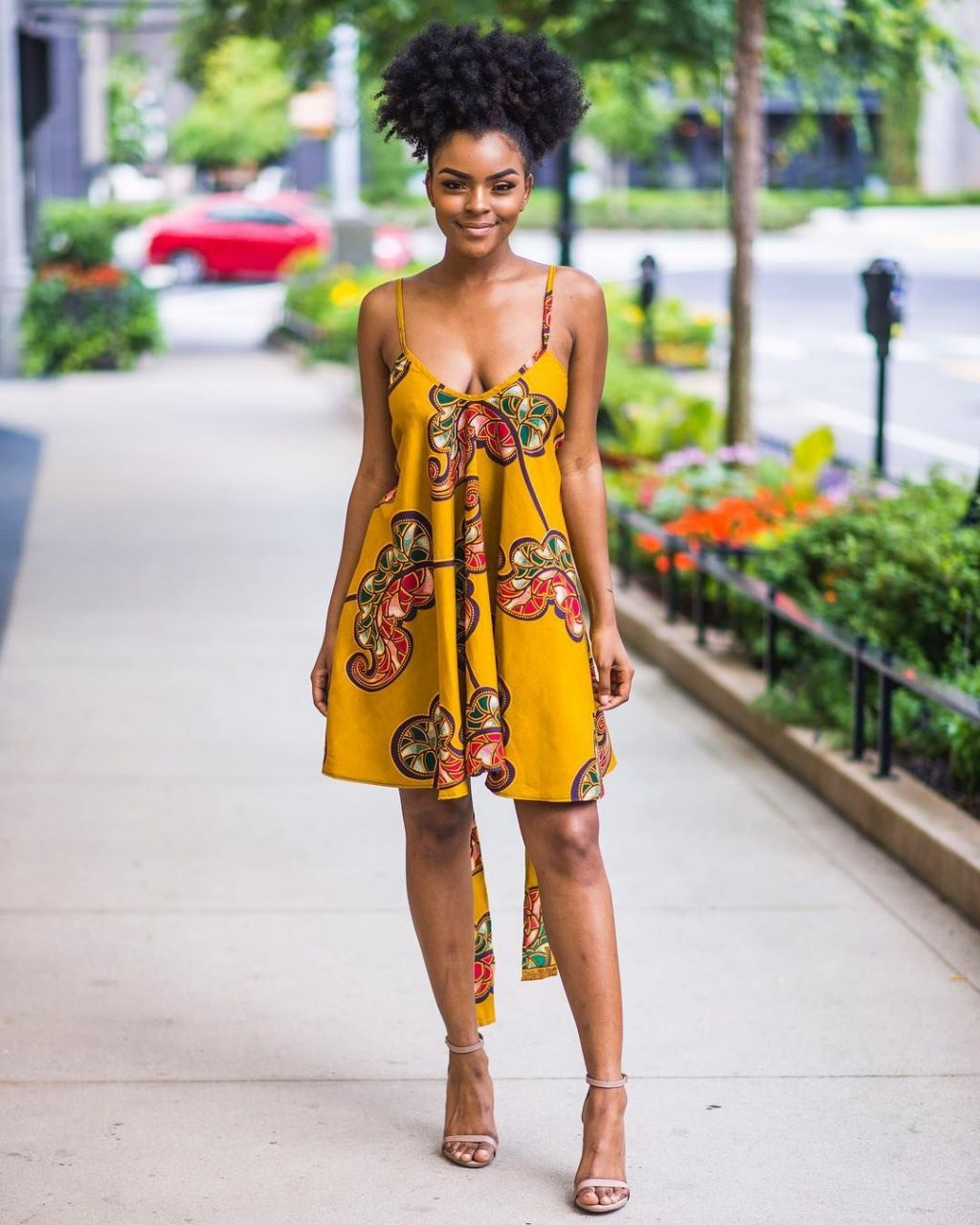 Strapless Ankara Gown