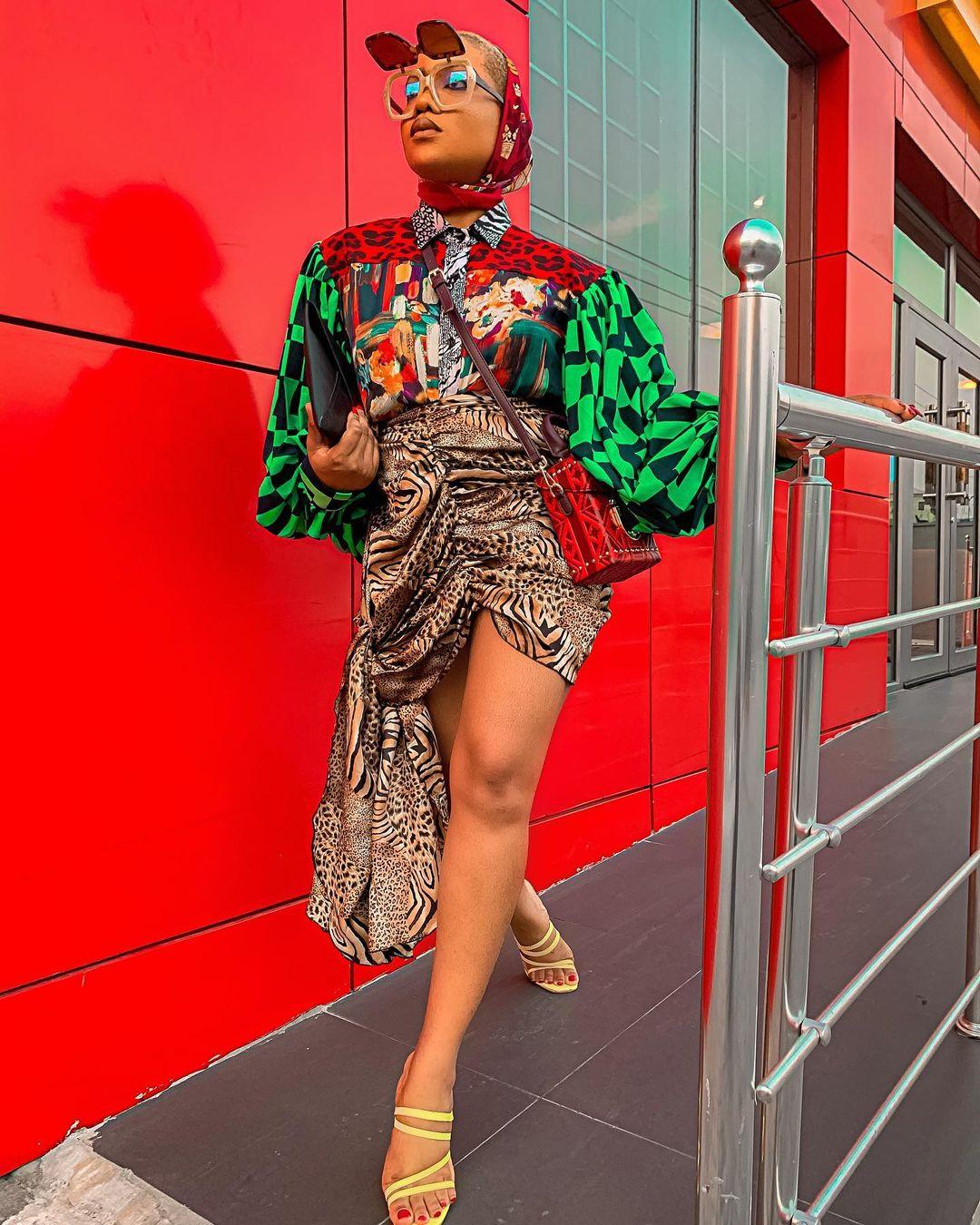 Jennifer Oshe In Really Lit Fancy Outfit