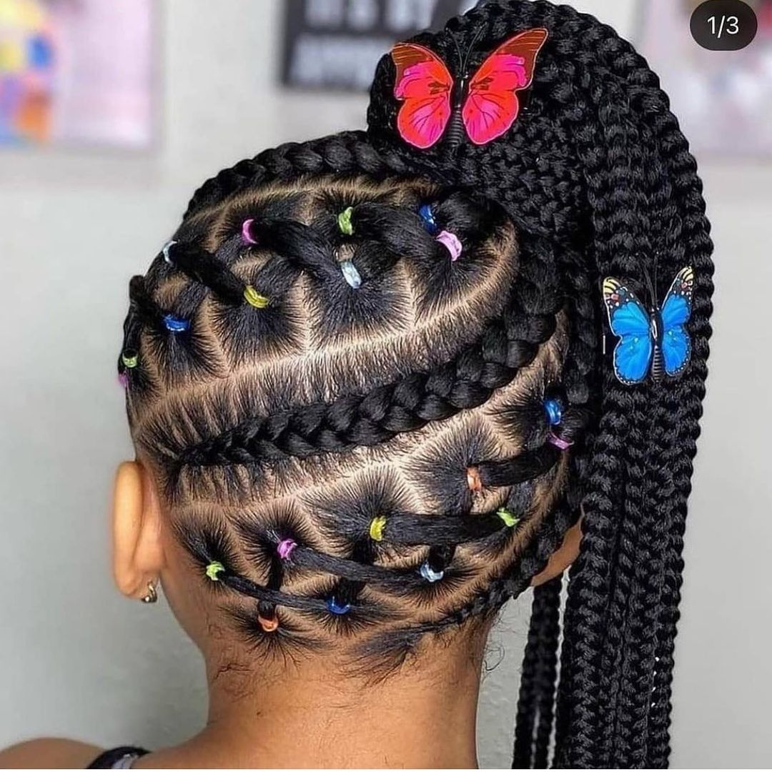 One Sided Butterfly Ponytail