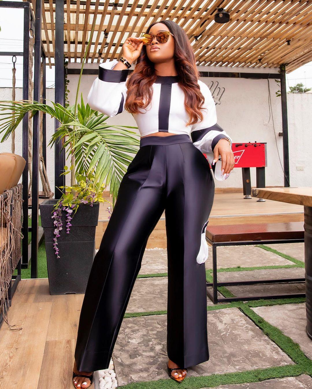 Cynthia Nwadiora: Crop Top With Pant