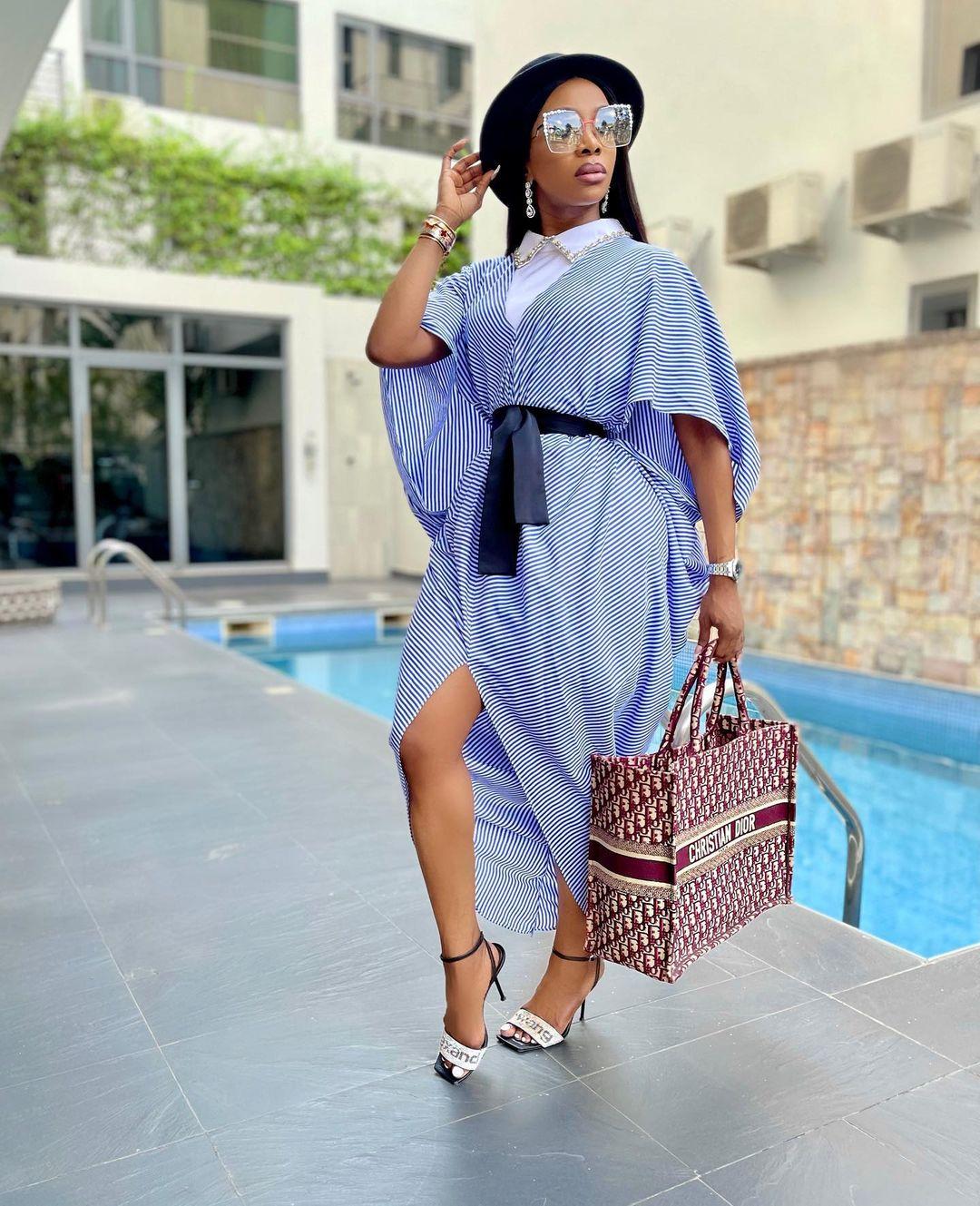 Chioma Goodhair: Blue Kaftan Dress