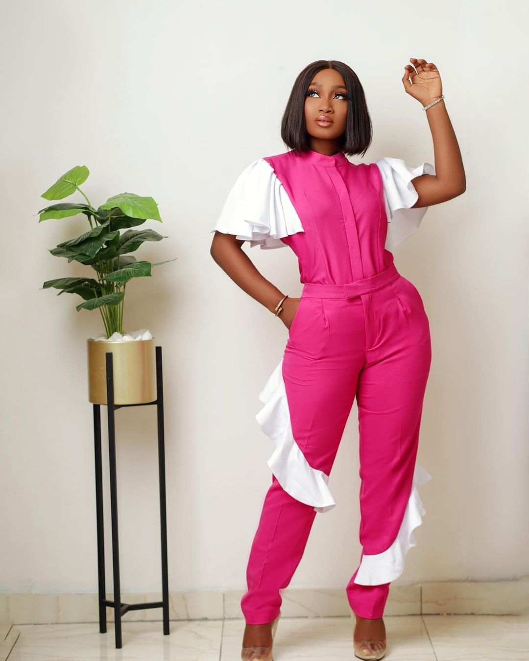 Esther Agunbiade: Two-Pieces Outfit