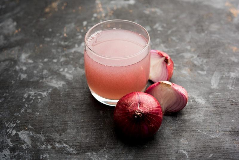 onion juice side effect on hair