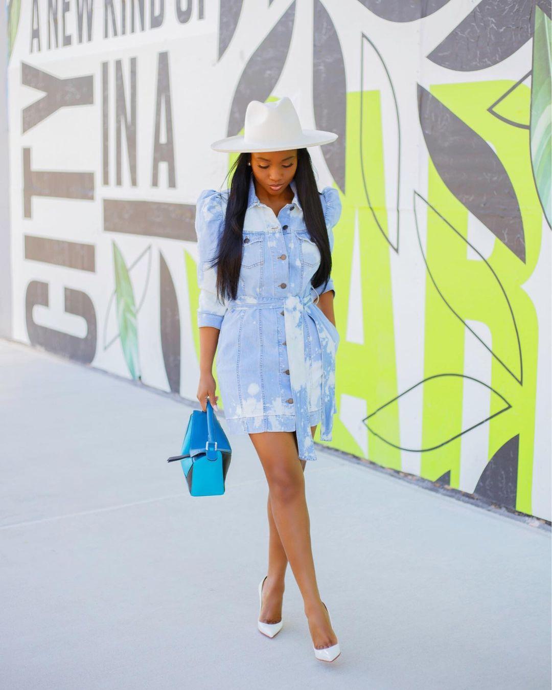 Priscilla: Button Down Jeans Dress