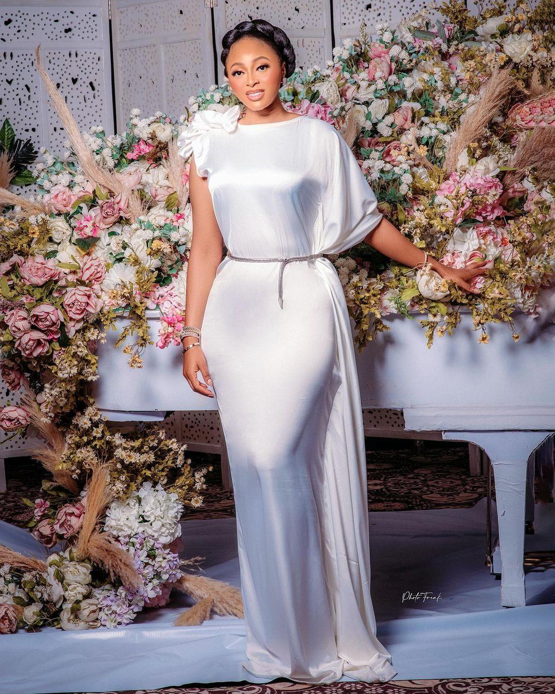 Mabel Makun- Elegant In White